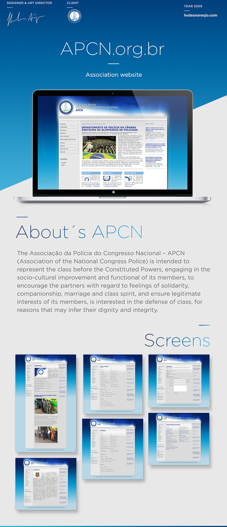 APCN Website Hudson Araujo