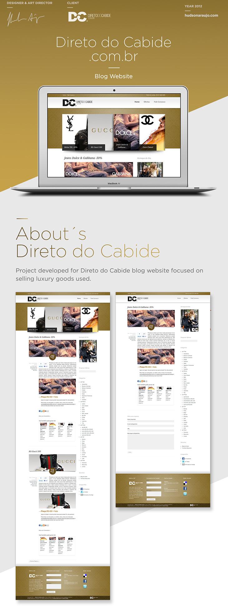 Direto do Cabide Blog Hudson Araujo