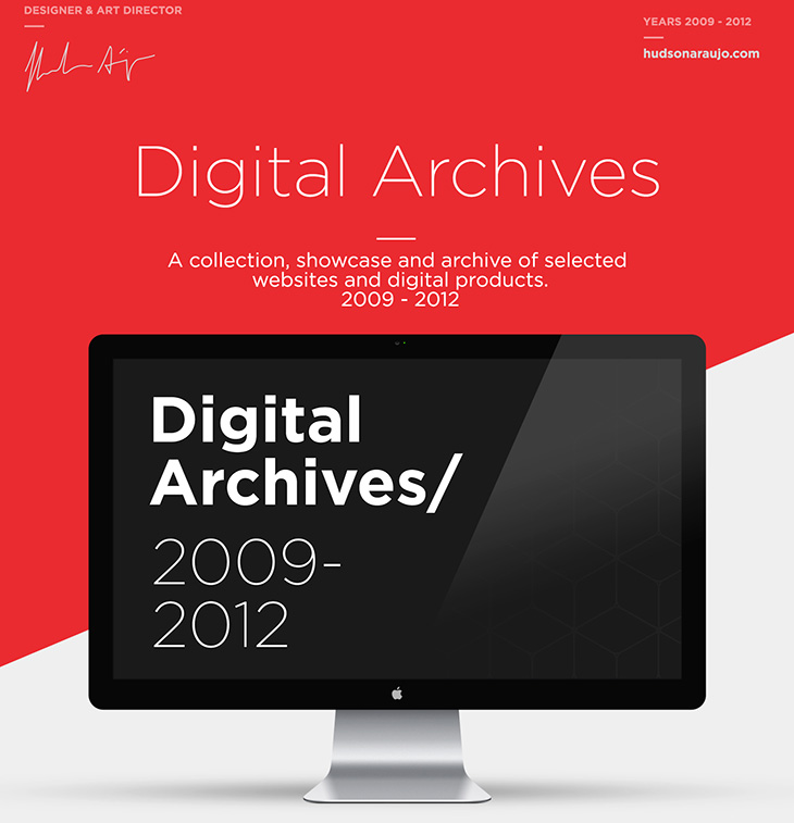 Digital Archives - Websites Hudson Araujo Designer Art Director