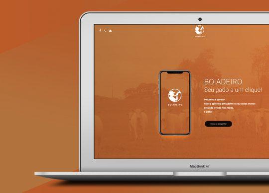 App Boiadeiro – Landing Page